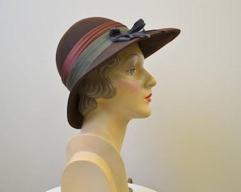1960s Model by Maxim Brown Wool Felt Fedora