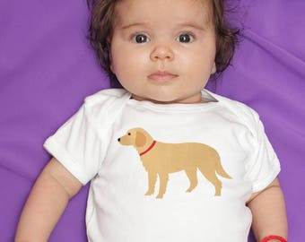 Baby Clothes, Golden Retriever baby bodysuit, baby boy clothes, baby girl clothes, baby gift