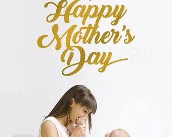 Happy Mother's Day sticker , Decorative Wall Decals, Removable Stickers Australian Made