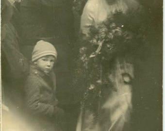 "Vintage RPPC Postcard ""Hello Mrs. Bride"" Snapshot Antique Black & White Photograph Found Paper Ephemera Vernacular Interior Design Mood - 33"