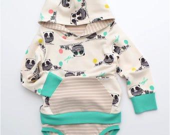 Eeny Meeny Miny Moe PDF Sewing Pattern: Baby Hoodie, Baby Dress, Bodysuit Hoodie, Bodysuit Dress