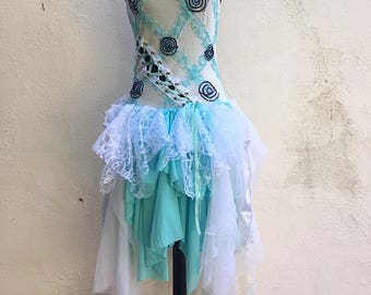 Twisted Alice in Wonderland - Whimsical Dress - Wedding Train Dress