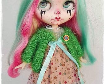 EKATERINA Gothic clown Blythe custom doll by Antique Shop Dolls