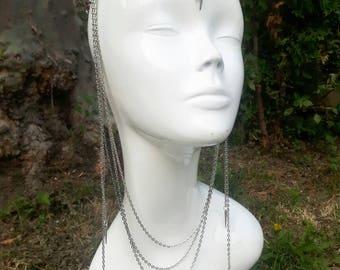 Raven chain headpiece