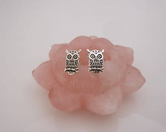 OWL bird sterling silver stud earrings