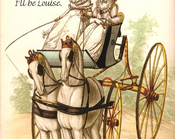 """You Be Thelma, I'll Be Louise. Marie Antoinette Inspired 4"""" x 6"""" Postcards. Free Shipping in USA"""