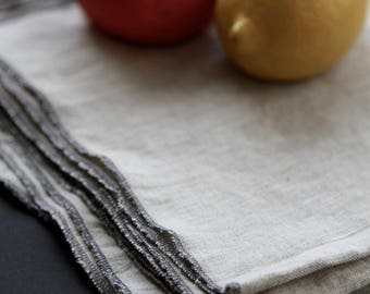 Linen Tea Towels, Natural 100% linen Dish Cloth