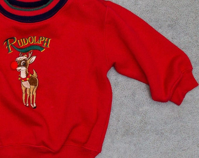 Vintage Kids Ugly Christmas Sweatshirt Size XS Toddler Super Soft | Made in USA 6CA