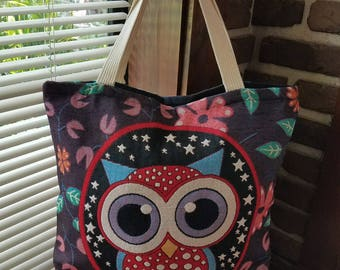 Owl bag-Messenger bag-Travel bag-Yoga bag-Vintage bag-Super cute Owl-Unique-One-of-a-kind-SASSY BIG EYES