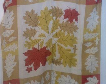 Vintage Vera Neumann autumn leaves scarf