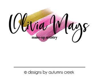 makeup logo premade logo design lipstick logo make-up logo makeup artist logo logo design