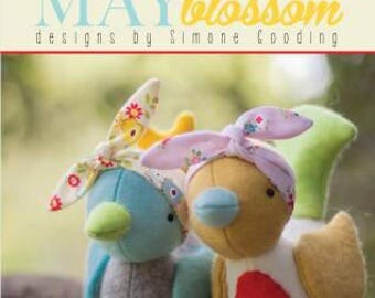 MAY BLOSSOM Hetty & Betty felt plushie doll patterns at thecottageneedle.com hand embroidery Simone Gooding