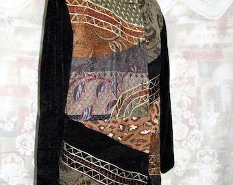 Black Velvet Patchwork Jacket
