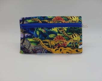 Dinosaur Pencil Case, Dinosaur Pouch, Toy Bag, Gadget Bag, Zip Pouch