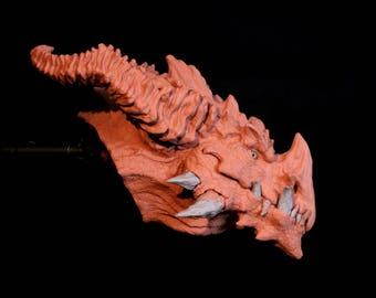 Only 3 left! PreOrder Special: Dragon Bust Trophy Fantasy Sculpture Bronze