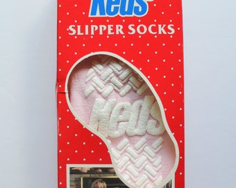 Vintage Deadstock NEW Pink Keds Slipper Socks 1981