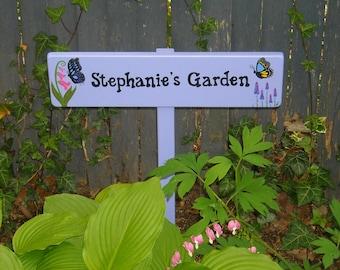 Custom Garden Sign, Personalized Garden Sign with stake, Garden Decor, Garden Sign, Gift for Gardener