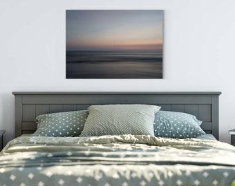 Bali Sunset Fine Art Photography Canvas Wrap Wall Art | Impressionist Photo | Orange | Pink | Gray | Blue