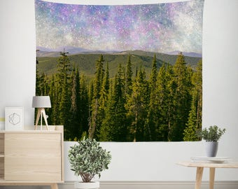 Nebula Wall Tapestry, Dorm Room Tapestry, Mountain Tapestries, Space Tapestry, Dorm Tapestries, Outer Space Tapestries, Modern Tapestry