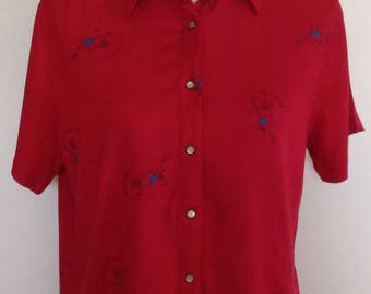 Wrangler cowgirl roping blouse