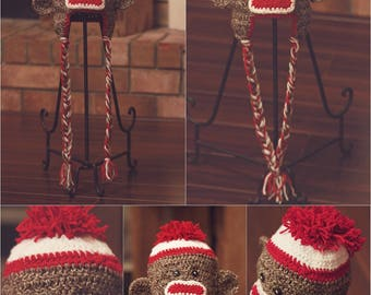 Mohawk Sock Monkey hat