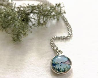 Small Lake Necklace Silver