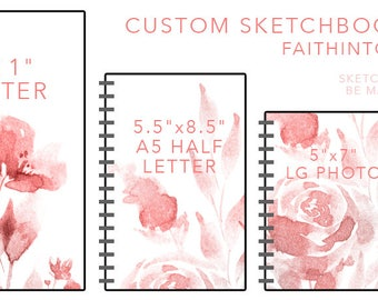 Custom Sketchbooks - Add Your Own Artwork