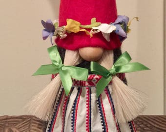 Midsummer Gnome in traditional summer outfit