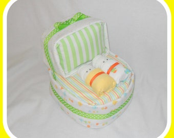 Amazing Boy, Girl, Or Neutral Bassinet Diaper Cake-Beautiful Shower Gift Idea