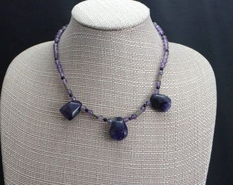 Amethyst Drops with Sterling Silver