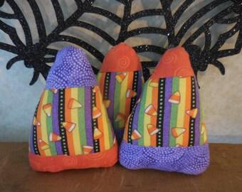 Primitive Whimsical Autumn CANDY CORN Ornies Set 3 Halloween Tucks Bowl Fillers