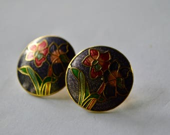 VINTAGE round flower earring