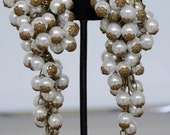 Cardillo pearl chandelier earrings 1960s