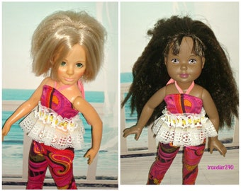 """Handmade Doll Clothes, Fashion to fit Vintage 18"""" Ideal Crissy and 17.5"""" Hasbro My Beautiful Doll, for Adult Collectors, by traveller240"""