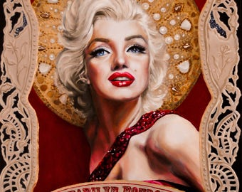 Saint Marilyn Monroe Art Print-  matted 11x14