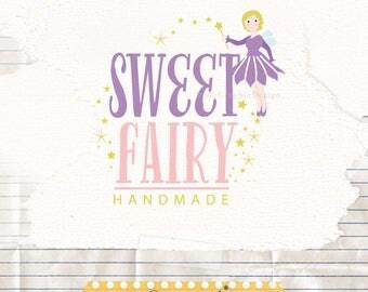 Fairy Logo - Baby Shop Logo - Children's Boutique Logo - Branding Logo - Digital Logo