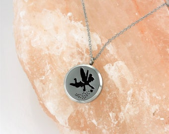 Fairy Essential Oil Diffuser Necklace- Fairy Aromatherapy Necklace- Stainless Steel Aromatherapy Necklace- Fairy Necklace- Pixie Necklace