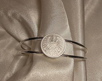 Austria Vintage Coin Bracelet 1966