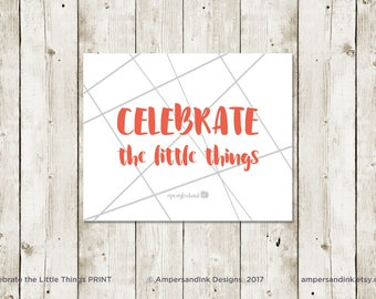 PRAY FOR HANK - Celebrate the Little Things, nicu Motivational Print, Encouragement, Wall Decor, Home Decor, 8 x 10 print