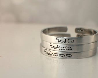 Mama Bear Baby Bear Cuff Bracelet - Hand Stamped Cuff Bracelets - Mama Bear Bracelet - Mom Bracelet - Mom Jewelry - Gift for Mom - Mom Baby