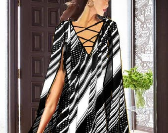 Cape Top Made To Measurement Matte Jersey Many Colors and Prints