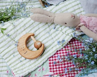 Wooden Toy, Baby Wooden Toy for baby, Wooden Rattle, Baby Boy Gift, Baby Girl Gift, Baby Shower Gift