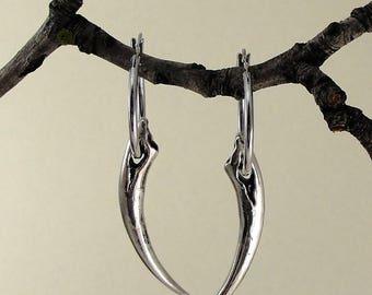 Vampire Earrings, Fang Earrings, Hoop Earrings, Gothic Jewelry, Twilight Jewelry, Gothic, Fangs, Fang Jewelry, Goth,  Jewelry, Goth Trend