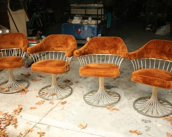 warren platner with knoll style chairs mid century dinning room home decor furniture