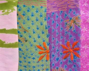 Fat Quarters, Silk Fabric, Sari Silk, FQ 23