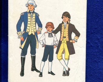 Vintage 1970's Simplicity 6739 Bicentennial Costumes for Boys Size 7 BOYS