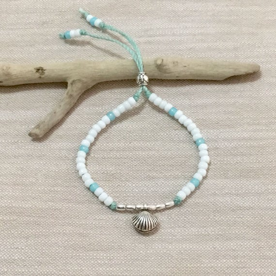 beach boho jewelry, hill tribe silver bracelet