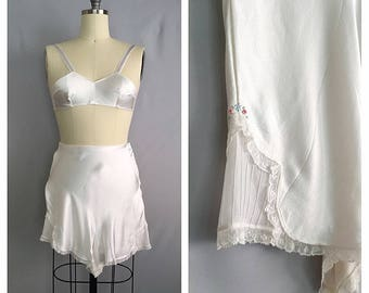 Lily lingerie set | 1930s satin lace lingerie | 30s bra and tap pants | xs - s