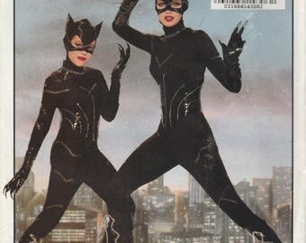 Girls' Catwoman Costume Pattern Butterick 6378 Sizes 7 - 14 Uncut