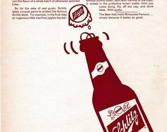 Vintage Schlitz Beer Magazine Ad